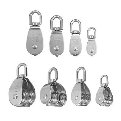 M15 M20 M25 M32 Stainless Steel Single Double Wheel Lifting Rope Pulley