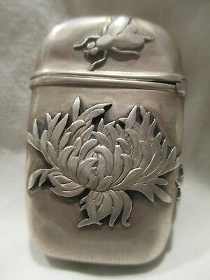 Shiebler Aesthetic Sterling Silver Match case Bug Fly Chrysanthemum Seahorse