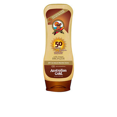 Cuerpo Australian Gold unisex SUNSCREEN SPF50 lotion with bronzer 237 ml