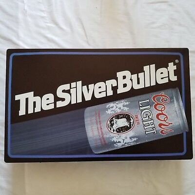 Vintage1986 Coors Light, The Silver Bullet Beer Light, New Old Stock, T&W