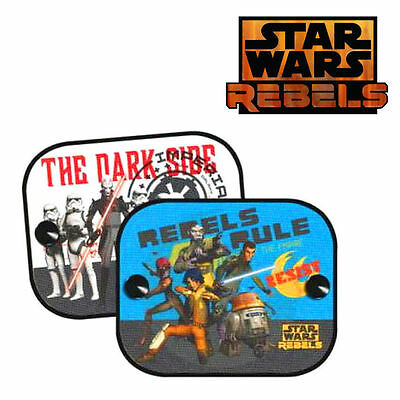 2 x Disney Star Wars Rebels Car Window Sun Shades UV Visor for Kids Children