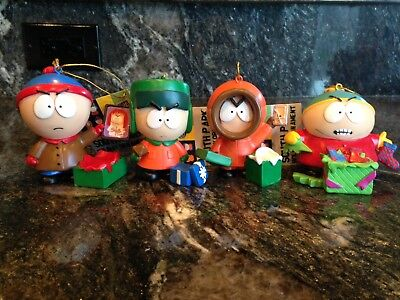 LOT OF 4 South Park Christmas ornament Cartman, Kenny, Stan and Kyle