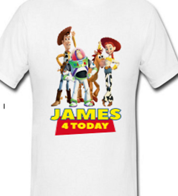 """Toy Story /""""Personalised/"""" Birthday T-SHIRT Kids Boys Girls /& Card Gift Any Age"""