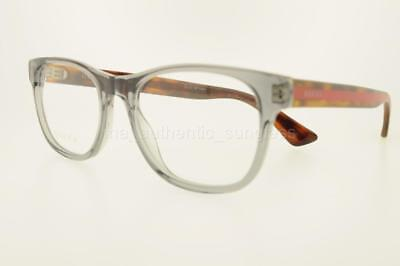 b7ddcfb8b2 Gucci Gg0004O 004 53Mm Gg0004 O Gray Havana Frame With Demo Lenses  Authentic New