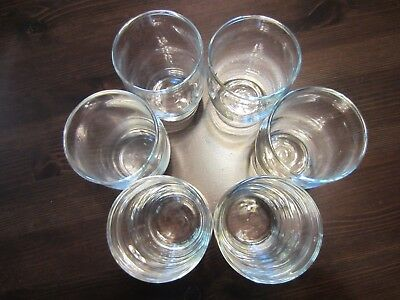 Set of 6 Clear Glasses SMALL Old Fashioned Aperitif Scotch Whiskey Drinking Soda