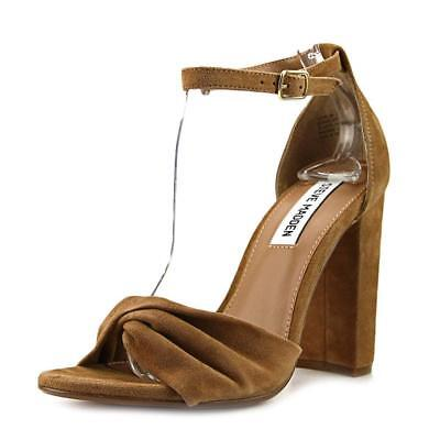 6a89ebd1fb7 Steve Madden Womens Clever Open Toe Special Occasion Ankle Strap Sandals