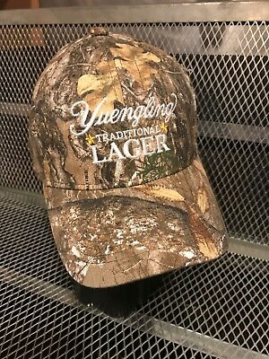 4 Ct Realtree Yuengling Traditional Lager Camo Adjustable Ball Caps New W//Tags