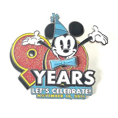 90 Years Mickey Mouse Let's Celebrate Disney Pin