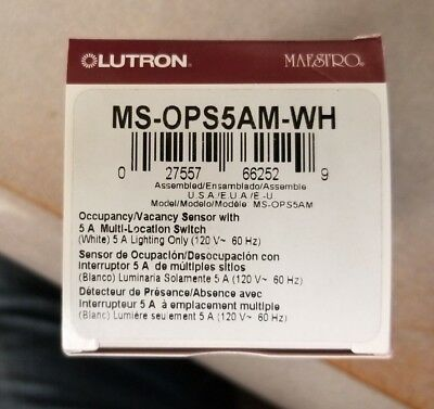 LUTRON MS-OPS5AM-WH - MSOPS5AM-WH - SENSOR w/SWITCH - WHITE