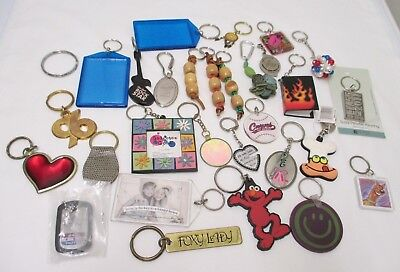 Mixed Lot 30 Keychains Accessories Crafts Steampunk Some Vintage Metal Pewter