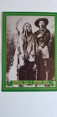 Postcard of Buffalo Bill & Sitting Bull - New
