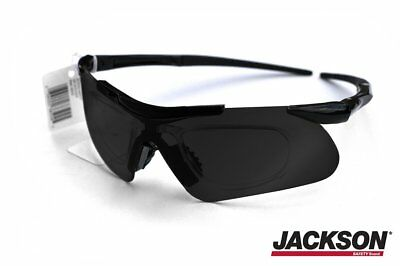 a54f5a2055 Jackson Safety Glasses V60 Safeview Smoke Tinted   Anti-Fog with RX Insert  38.
