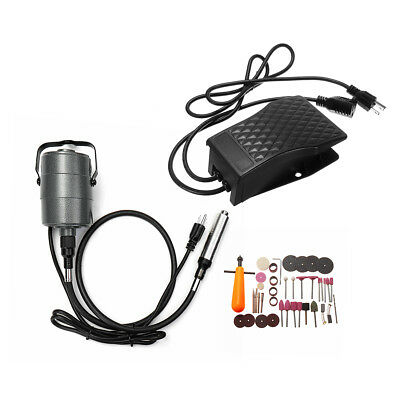 800W 110V Electric Variable Speed Die Grinder Set 48'' Flexible Shaft Rotary Too