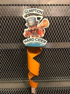 VERMONT CIDER BREWING ~ GUMPTION HARD ~ Circus Leader NEW STYLE Beer Tap Handle