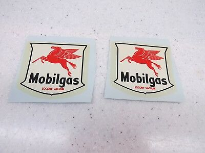 New Old Stock  Mobilgas Socony Vacuum Decals Late 1980S