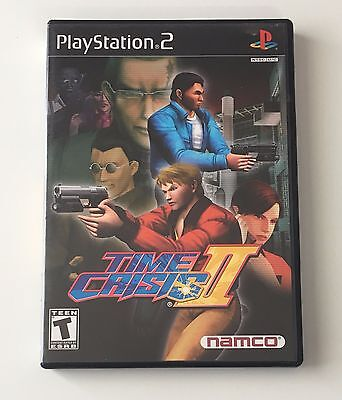 SONY PlayStation 2 PS2 NAMCO Time Crisis II 2 (COMPLETE)