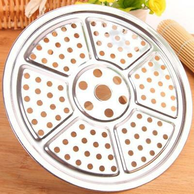 Stainless Steel Steamer Tray Rack Pot Steaming Plate Basket Pork Cookware Tool