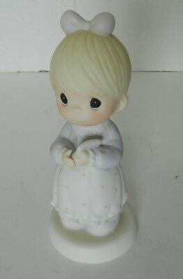 """Precious Moments Figurine """"The Good Lord Always Delivers"""" 1989  Enesco 523453"""