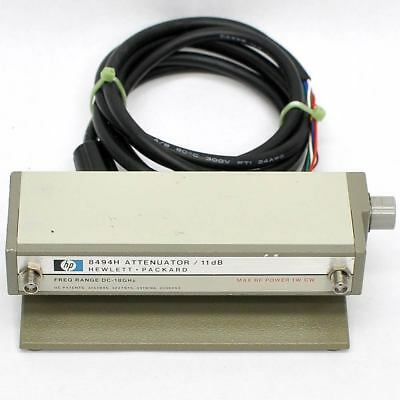 Hewlett Packard 8494H Programmable Attenuator 0-11dB 0-18GHz SMA Connectors HP