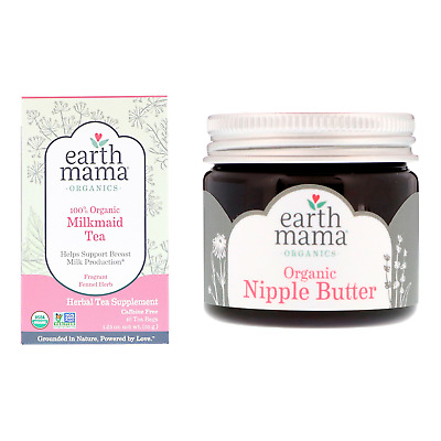 Earth Mama Organic Breastfeeding Tea + Nipple Butter Cream Nursing Gift Pack