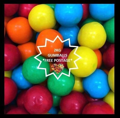 2Kg Gumballs Colourful Gum Balls Suitable For Gumball Machine Free Post Bulk Buy