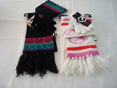 Girls Lot Of 2 Sets Scarf, Hat And Gloves nwt