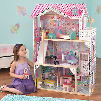 New Kidkraft Grand View Mansion Dollhouse With Ez Kraft Assembly