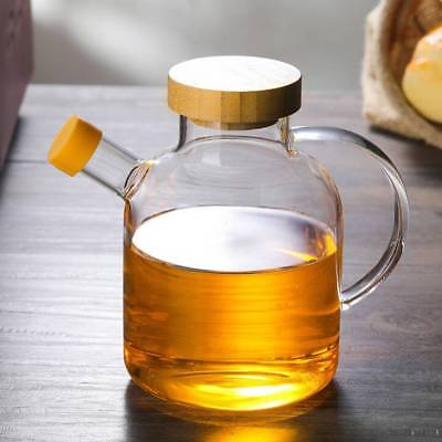 650ML Glass Oil Bottle Spice Jar High Boron Oil Pot Condiment Bottle With Cover