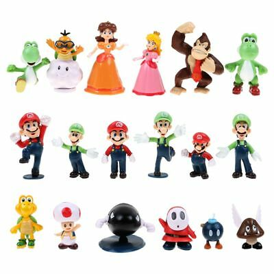 Super Mario Bros Lot 10Pcs Action Figure Doll Playset Figurine Gift Collection
