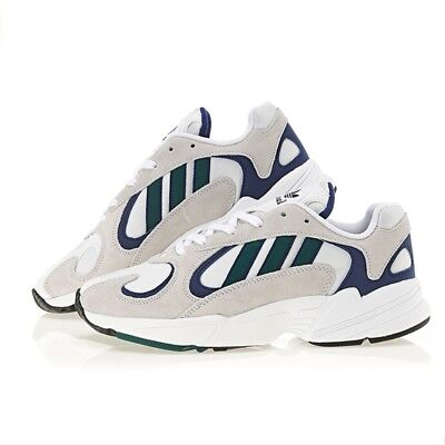 6f3bdb83033 New Adidas Originals Yung-1 Unisex Shoes Sneakers - White Green Blue(
