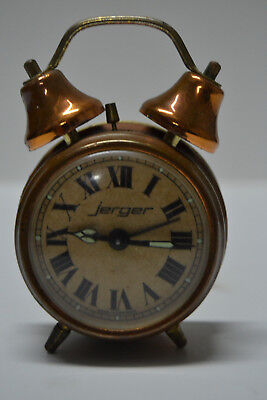 Reloj Despertador - Jerger - Made in Germany - Vintage - Funciona