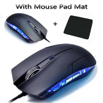 Cobra Optical Mouse Adjustable 1600DPI USB Wired Gaming Game Mouse For PC Laptop