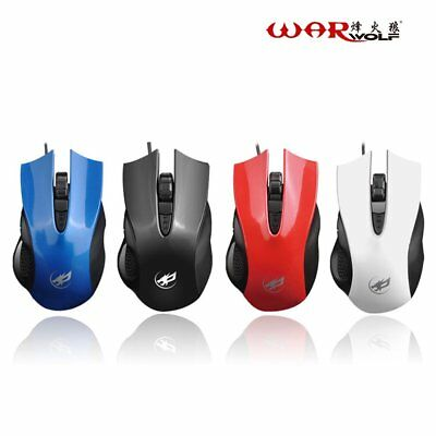 Gaming Mouse Wired USB 4 Buttons 1600DPI High Precision Optical Gamer Mouse KLDP