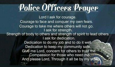 100 Police Officer Prayer Cards