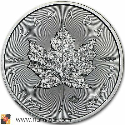 CANADA 5 Dollars 2016 Maple Feuille 1 Once d'argent (S//C)