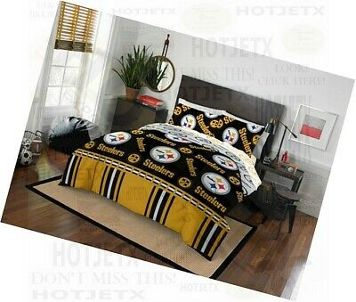 b48ae9ac8 Pittsburgh Steelers Bedding Set Twin Nfl Football Bed Pillow Superbowl Hd Tv