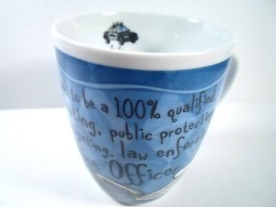 Top Cop Police Officer H & H History & Heraldry Coffee Mug Cup Blue Porcelain