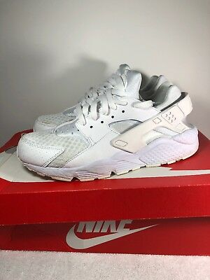 Nike Air Huarache White/Pure Platinum 318429 111 Mens SZ 9 Triple White Running