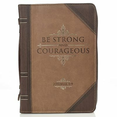 Be Strong and Courageous Joshua 1:9 Bible Cover, Size Medium
