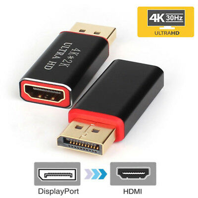 Converter DisplayPort DP to HDMI Display Port Male to HDMI Female 4K Adapter New
