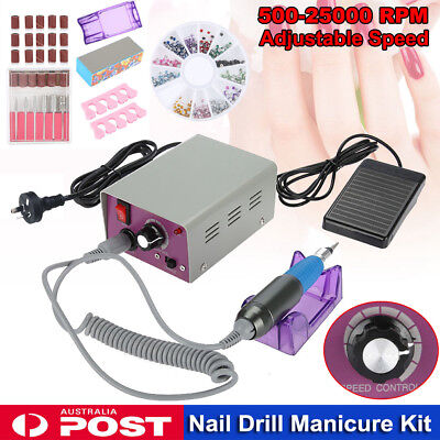 25000rpm Professional Electric Nail Drill Files Polisher Pedicure Manicure Tool