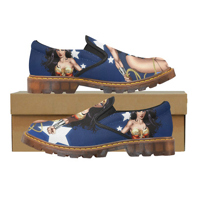 Custom Womens Slip On Loafer Wonder Woman Shoes Comfy Ladies Casual Flats
