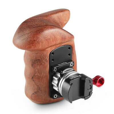 SmallRig Rosette Wooden Handle Grip(Lato Destro) con Quick Release NATO Clamp