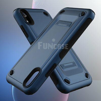 For iPhone XR XS MAX X Rugged Silicone Rubber Shockproof Armor Case Cover