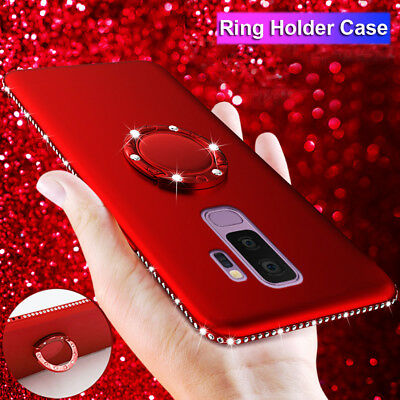 Slim Shckproof Bling Silicone Ring Holder Case Cover for Samsung Galaxy Note 9 8