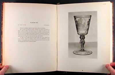Antique Russian & European Engraved Glass -Good Pictures, Leather Binding