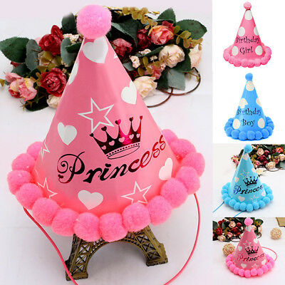 Paper Party Cone Hats - happy birthday favour supplies dress up girls boys