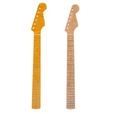 Guitar Neck Curly Maple 21 Fret for DIY Guitar Parts Replacement 65.5cm 2 Color