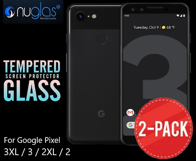 2 Pack GENUINE NUGLAS Google Pixel 3XL 3 2 Premium Tempered Glass Screen AU POST