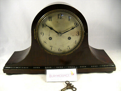 Napoleon's Hat Mantel Clock,Working With Key,GC, (WH_5371)